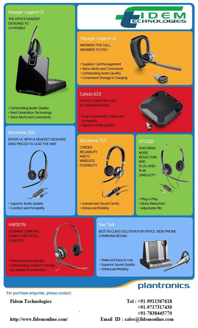 Plantronics Voice Over IP Technology Headsets for VoIP Phones, Cisco